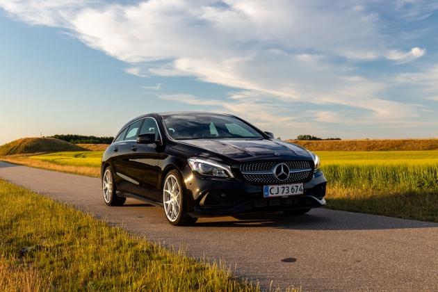 Mercedes CLA bil fotografering