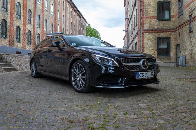 Mercedes CLS bil fotografering